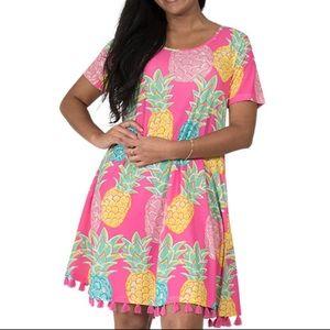 NWT SIMPLY SOUTHERN Charleston Pineapple Dress